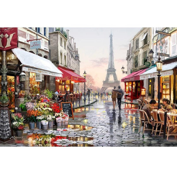 2019 5d Diy Diamond Painting Kits Eiffel Tower Street  VM9477