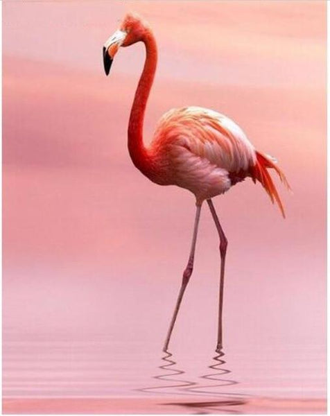 2019 5d Diy  Diamond Painting Kits Style Flamingo NA10385