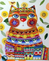 Modern Art Hot Sale Colorful Cat Picture 5d Diy Diamond Painting Kits VM7449