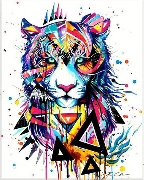 5d Diy Diamond Painting Kits Special Tiger VM9635