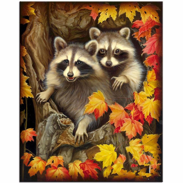5d Diy Diamond Painting Kits Special Full Square Drill Raccoon NA0385