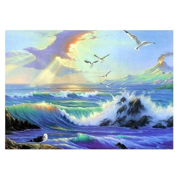 5d Diy Diamond Painting Kits Sea Wave VM7390