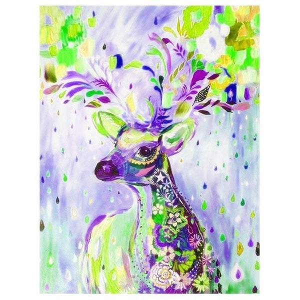 Oil Painting Style Dreamy Deer 5d Diy Square Diamond Painting Kits VM7378