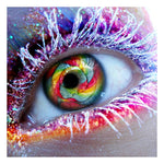 2019 5d Diy Diamond Painting Colorful Eye Protrait VM1019