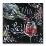 2019 5d Diy Diamond Painting Kits Blackboard Wine Glass VM9616