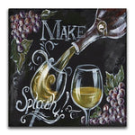 Cheap Square Drill Blackboard Wine Glass 5d Diy Diamond Painting Kits VM9614