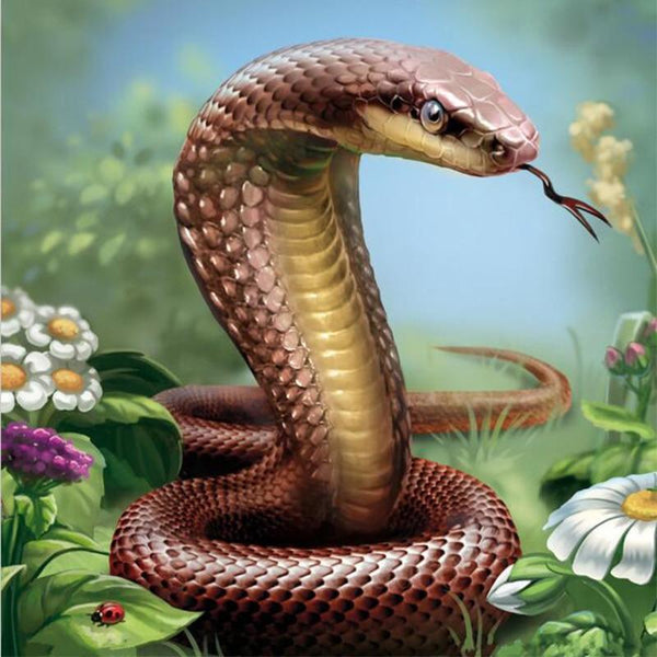 2019 5D DIY Diamond Painting Kits Cross Stitch Art Animal Snake VM90543
