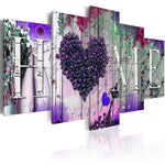 5pcs 2019 Hot Sweet Home Heart Multi Panel 5d Diy Diamond Painting Kits VM9787