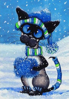 2019 5d Diy Diamond Painting Kits Cat In The Snow VM7359
