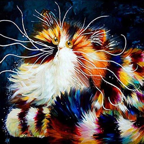 2019 5D DIY Diamond Painting Kits Modern Art Funny Cats VM37035 (1767014105178)