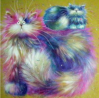 2019 5D DIY Diamond Painting Kits Funny Cats VM37036 (1767012991066)