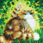 2019 5D DIY Diamond Painting Kits Funny Cat VM3703 (1767013810266)
