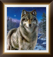 2019 5d Diy Diamond Painting Kits Wall Decor Lonely Wolf VM4120 (1767039533146)