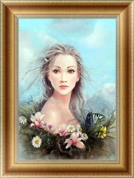 2019 5d Diy Diamond Painting Kits Home Decorate Girl Portrait VM4123 (1767040155738)