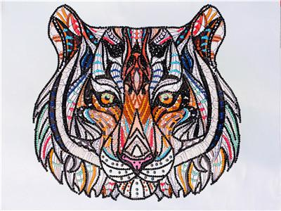 2019 5d Diy Diamond Painting Kits New Special Tiger VM8008
