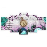 2019 5d Diy Diamond Painting Kits Multi Panel Clock VM8102