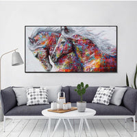2019 5D DIY Diamond Painting Kits Colorful Horse VM1173 (1766943686746)