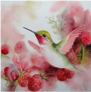 2019 5D DIY Diamond Painting Kits Love Bird Flowers VM92038