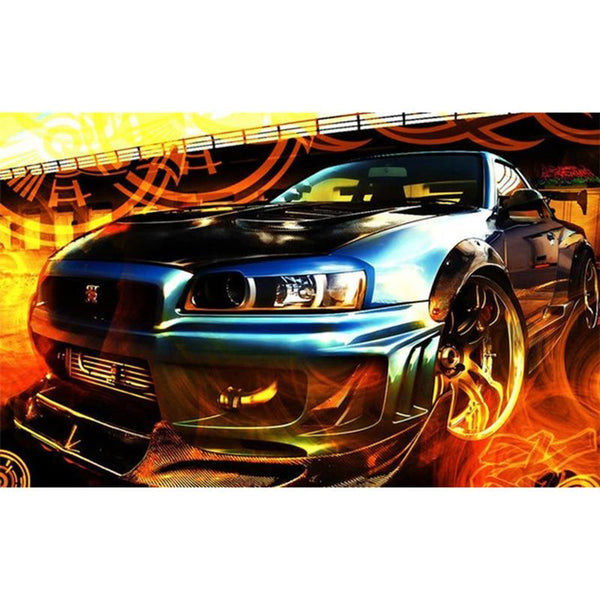 5D Diy Diamond Painting Kits Embroidery Art Sports Cars VM92348