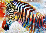 2019 5d Diy Diamond Painting Animal Colored Zebra VM3600