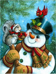 2019 5D Diy Diamond Kits  Winter Cute Snowman Christmas  VM7561