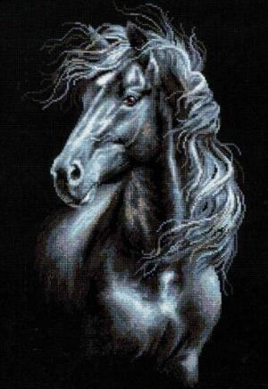 2019 5d Diy Diamond Painting Kits Horse Black And White VM9732