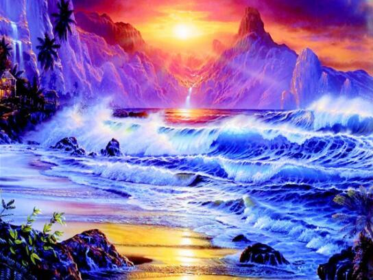 2019 5d Diy Diamond Painting Kits Landscape Mountain VM20496