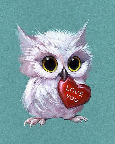 2019 5D DIY Diamond Painting Owl Kits VM06303