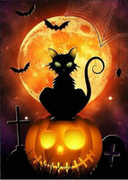 New Arrival Hot Sale Halloween Cat Pumpkin 5d Diy Rhinestone Stitch Kits VM4089 (1767036387418)