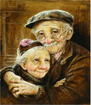 2019 5d Diamond Painting Cross Stitch Kits Old Couple Diy VM3406 (1766991429722)