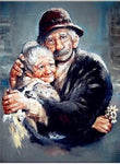 2019 5d Diamond Painting Kits Oil Painting Style Old Couple Diy  VM3405