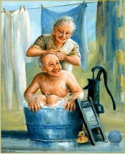 2019 5d Diamond Painting Kits Oil Painting Style Old Couple Diy VM3403