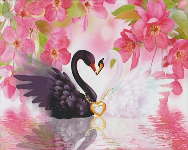 2019 5d Diy Diamond Painting Kits Swan Lovers Wall Decor VM9946
