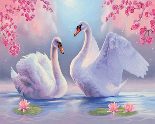 2019 5d Diy Diamond Painting Kits Swan Love VM9943