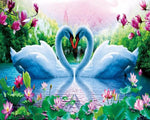 2019 5d Diy Diamond Painting Kits Swan Lover VM9942