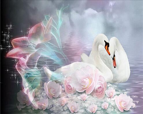 2019 5d Diy Diamond Painting Kits Romantic Swan VM9940