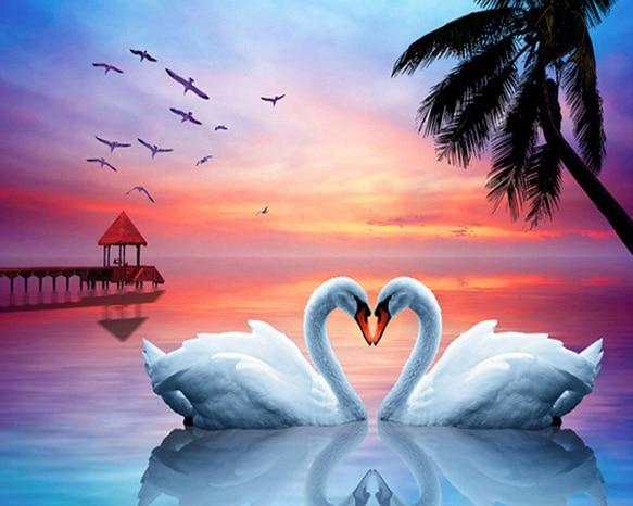 Dream Swans Love Home Decorate 5d Diy Diamond Painting Kits VM9945