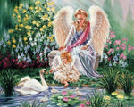 5d Diy Diamond Painting Kits Angels And Swans  VM9951