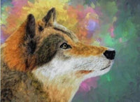 2019 5d DIY Diamond Painting Kits Colorful Pensive Wolf VM7516