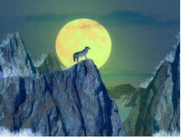 2019 5D DIY Diamond Painting Kits Wild Wolf In The Night VM7513
