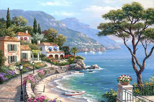 5d Diy Diamond Painting Kits Landscape Seaside VM9041