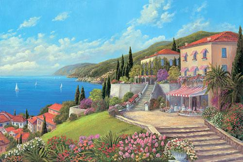 5d Diy Diamond Painting Kits Landscape Town Seaside  VM9039