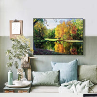 2019 5d Diamond Painting Lake Forest Landscape Diy VM1227 (1766946898010)