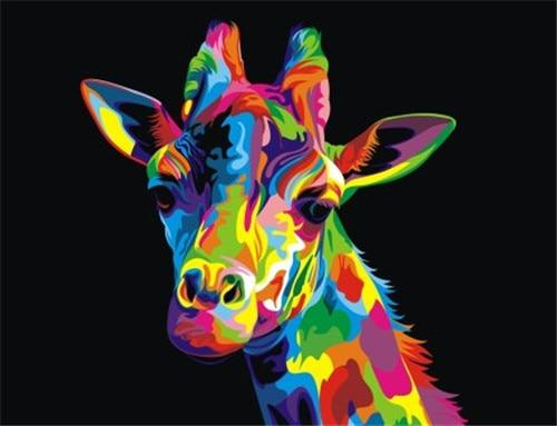 Hot Sale Special Colorful Giraffe 5d Diy Diamond Painting Kits VM4186 (1767047299162)
