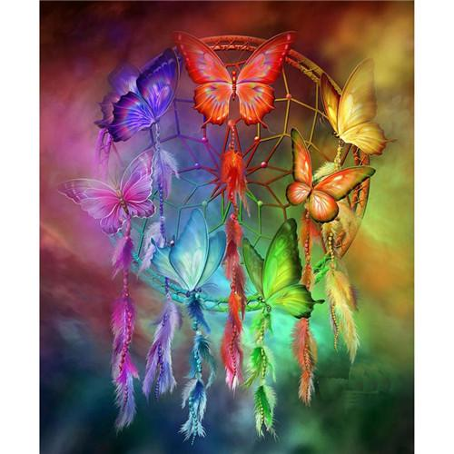 2019  5d Diy Diamond Painting Kits Dream Catcher Rainbow VM4058