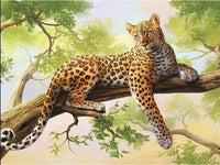 2019 5d DIY Diamond Painting Kits Leopard VM8409