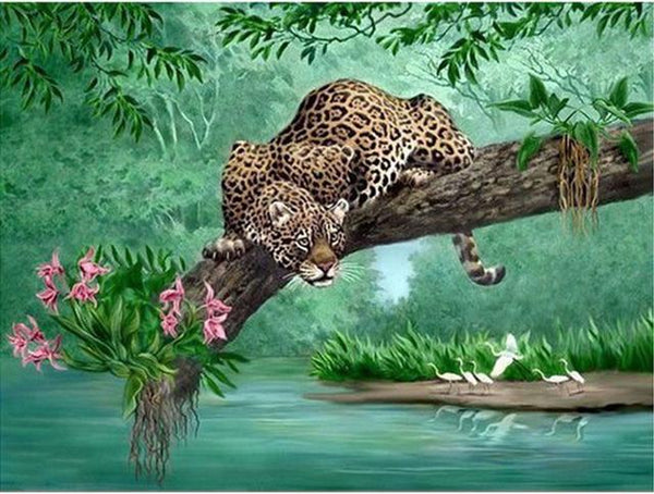 2019 5d DIY Diamond Painting Kits Leopard VM8408