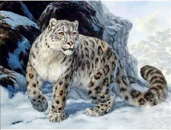 2019 5d DIY Diamond Painting Kits Animal Leopard Portrait  VM8413