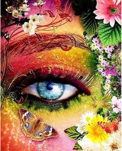 Hot Sale Special Colorful Eyes Butterfly 5d Diy Diamond Painting Kits VM9857
