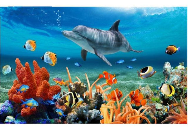 For Beginners 2019 New Dolphin Diy Diamond Painting Kits VM8591